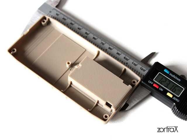 Cover di un contatore Geiger stampata con Zortrax