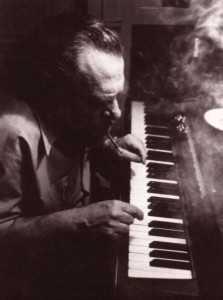 Charles playing piano