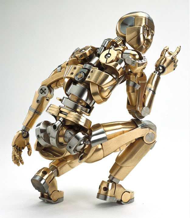Un pinocchio di acciaio e bronzo
