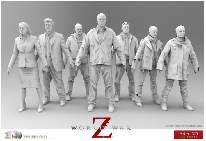 """Case History: gli scanner Artec utilizzati nella produzione di """"World War Z"""""""