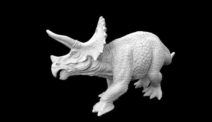 La stampante 3D Mendel Max 2.5 alle prese con un Triceratops Horridus