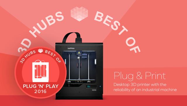 Zortrax M200 migliore stampante plug&play per il secondo anno consecutivo