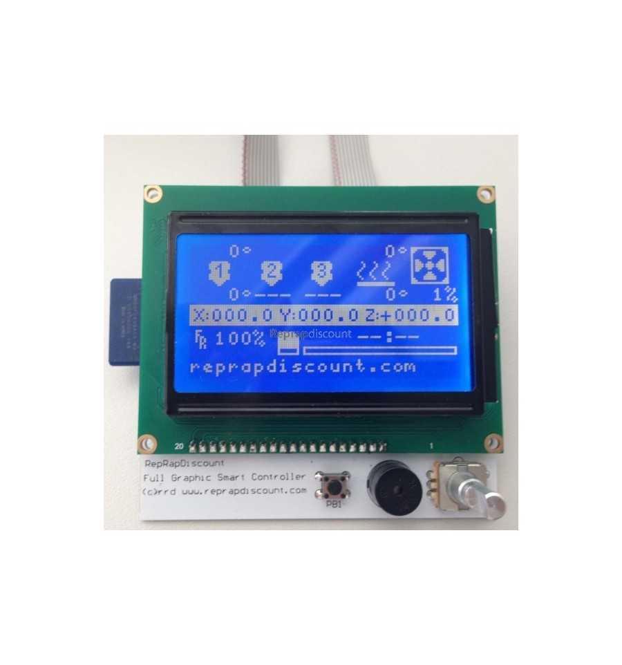 """Lo Smart Graphic LCD Controller. Equipaggia molte stampanti, e """"tradisce"""" un'elettronica 8 bit."""