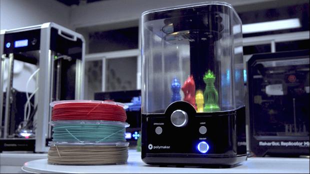 Il prototipo del Polysher, progettato da Julia Truchsess per Polymaker e stampato con Raise3D