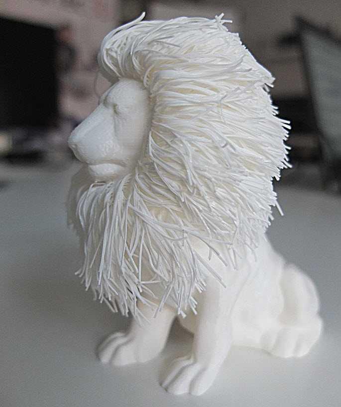 Il leone secondo Raise3D N2 Plus