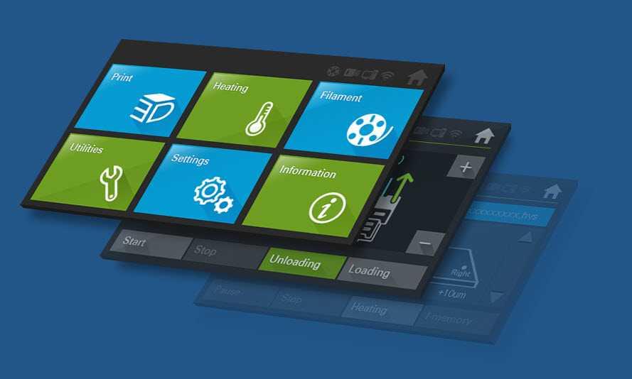 Il pannello LCD touch screen della 310F