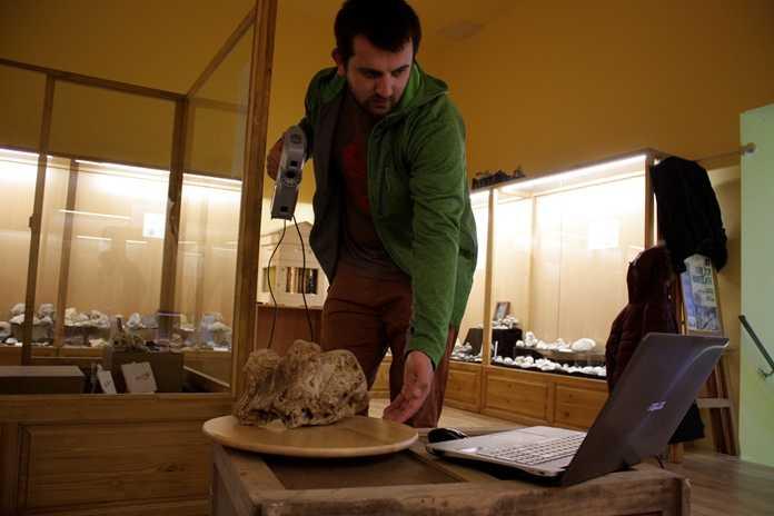 Scansione di oggetti paleontologici