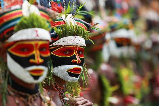 Colori di una tribu Papua