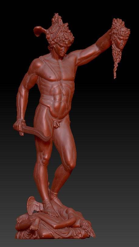 Scansione delle statue: Perseo e Medusa