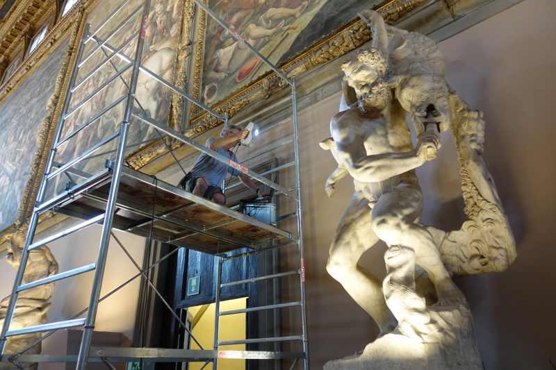 Scansione delle statue con Artec EVA
