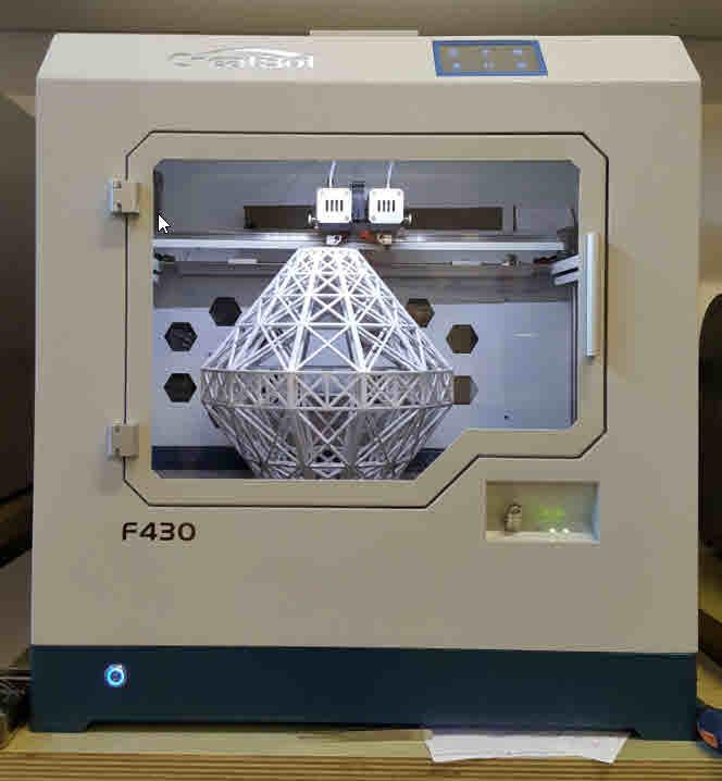 CreatBot F430 prova di stampa