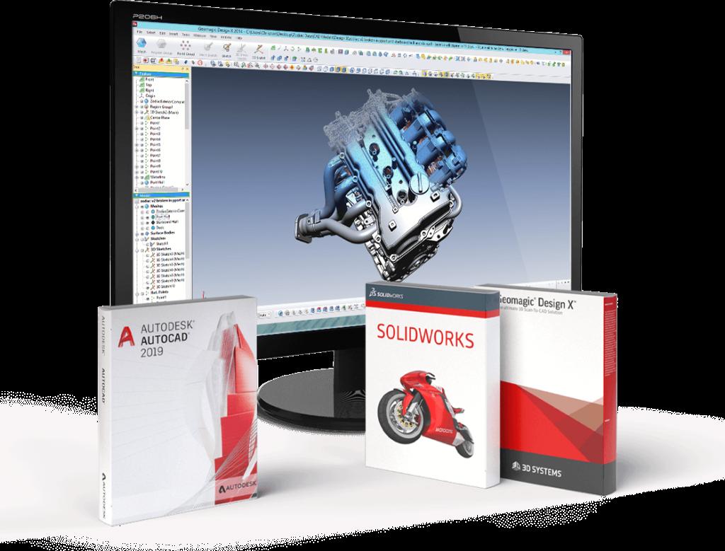 Artec Studio 14 Professional collegamento diretto con software CAD